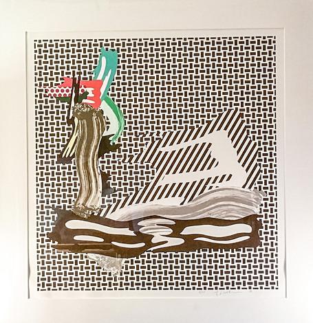 """ROY LICHTENSTEIN (1923-1997) """"Brushstrokes on Canvas"""" 1989"""
