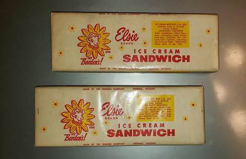 Two Elsie Faux Ice Cream Sandwiches