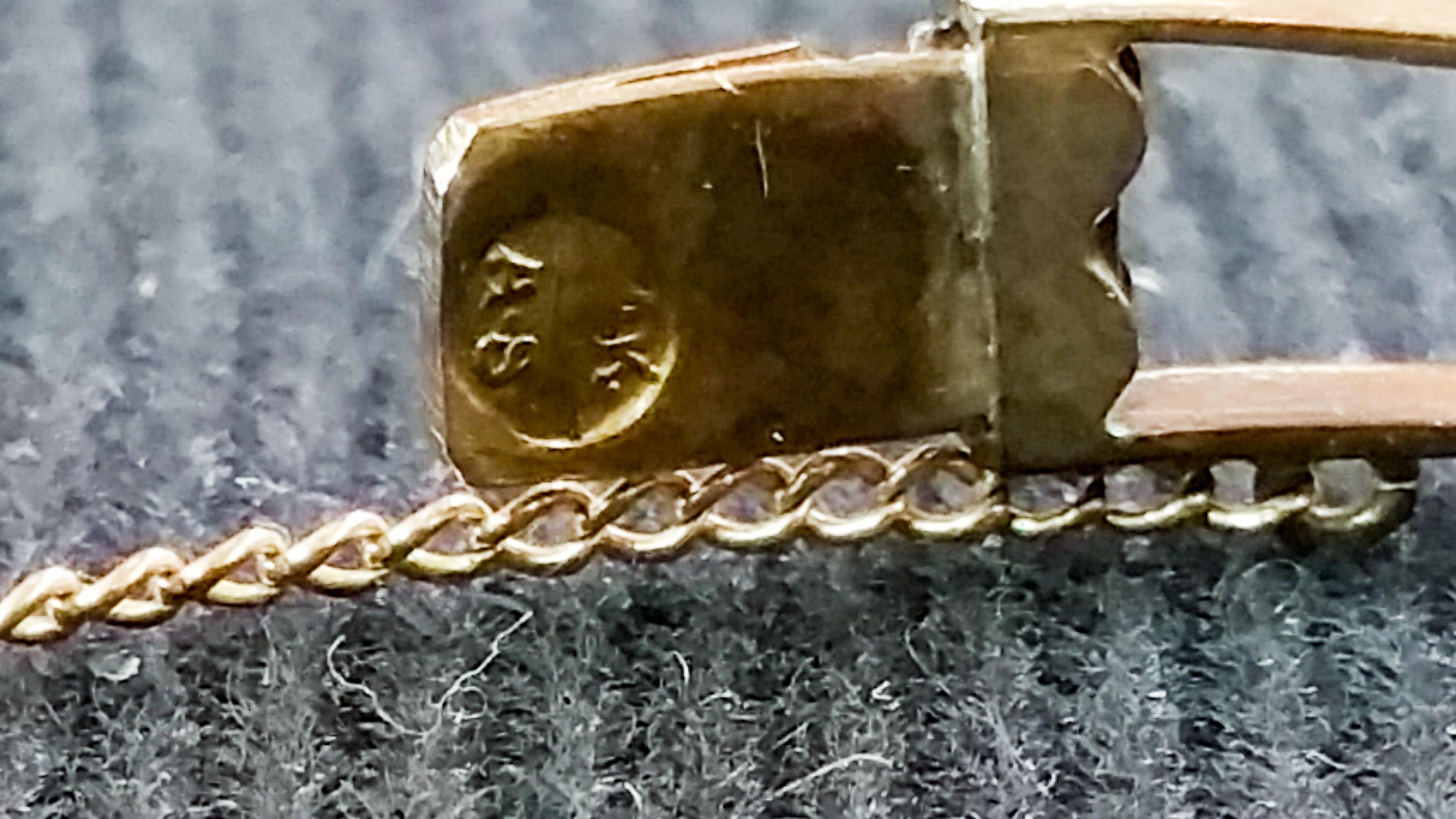 14kt and Diamond Vintage Bracelet d