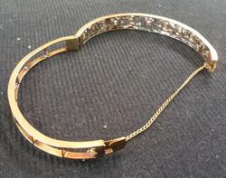 14kt and Diamond Vintage Bracelet c