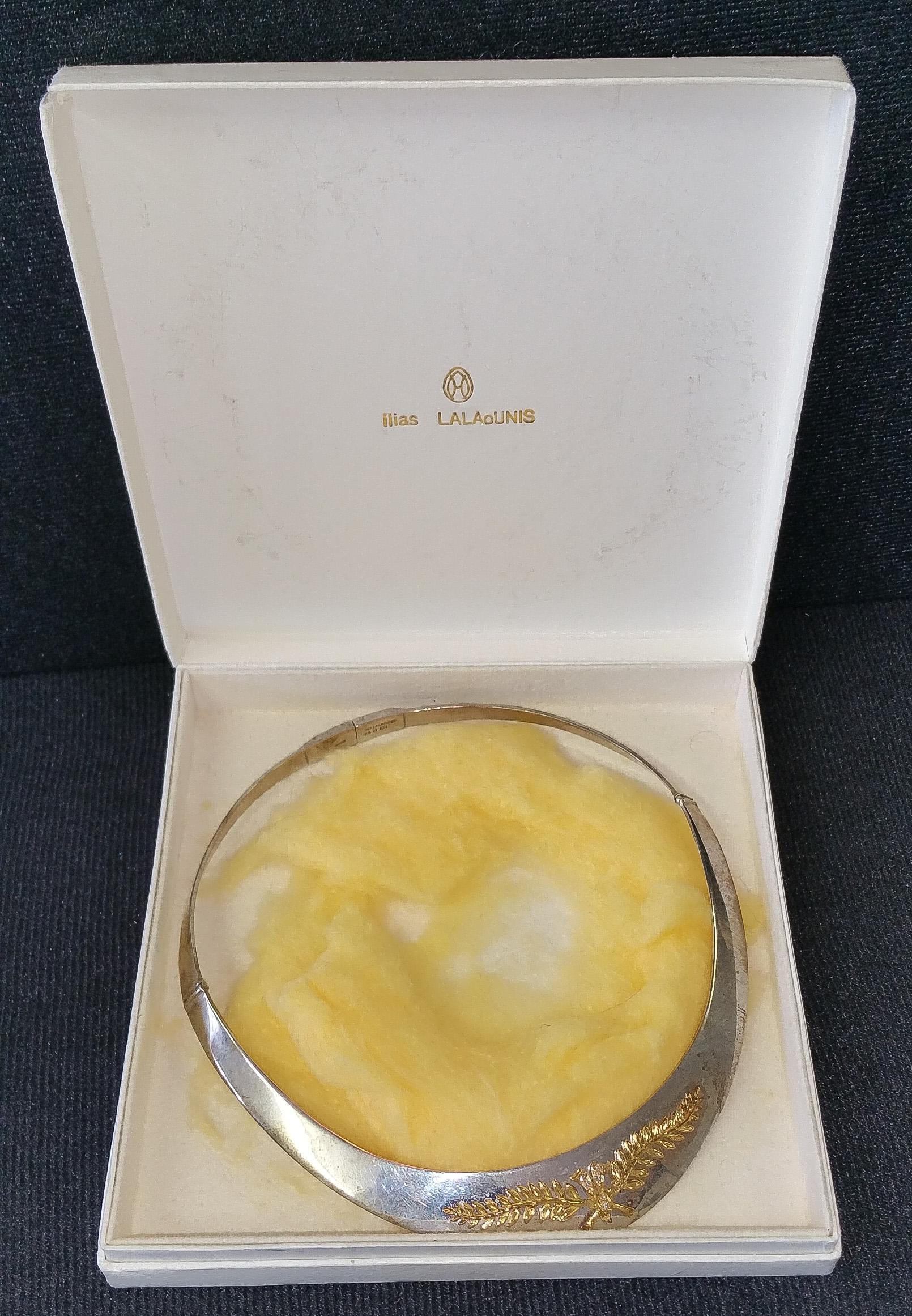 Ilias Lalaounis silver gold collar a