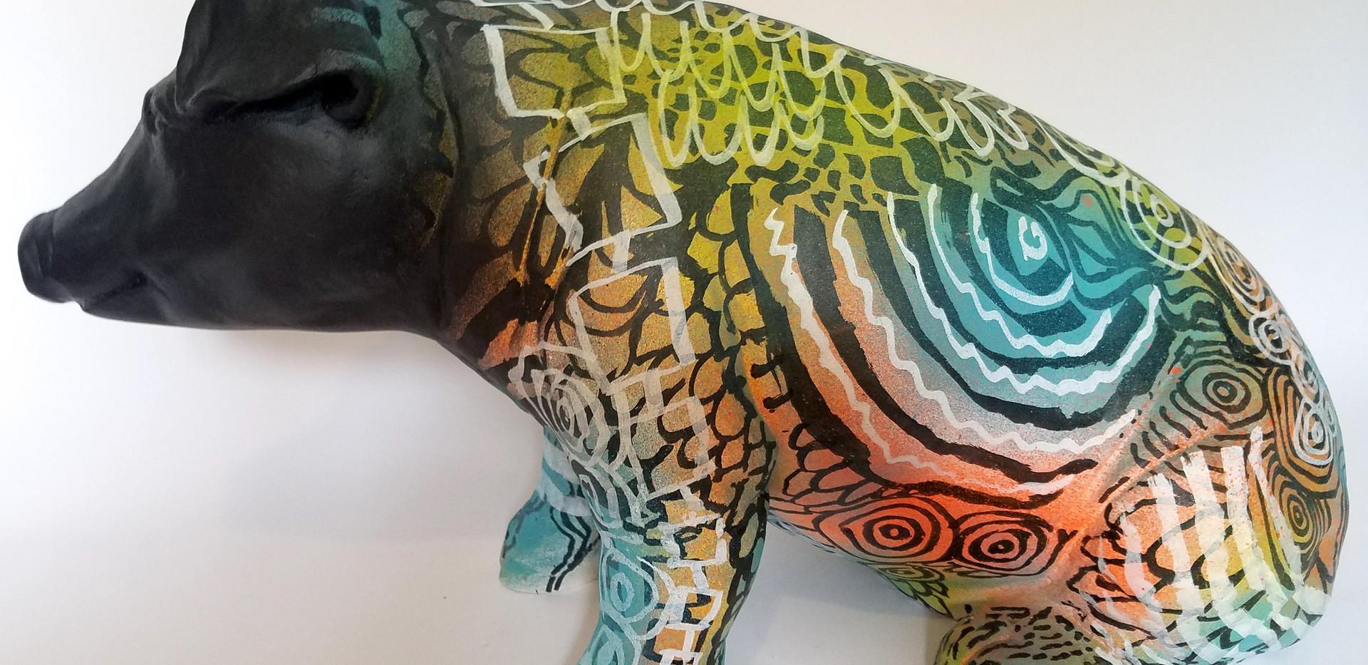 Jason O'Malley  Graffiti Pig by Rural Modernist