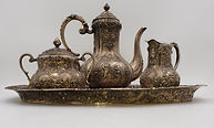 Rare Reprouse Sterling Silver Tea Set sold for a record price at Scott Daniels Auction in Stone Ridge NY