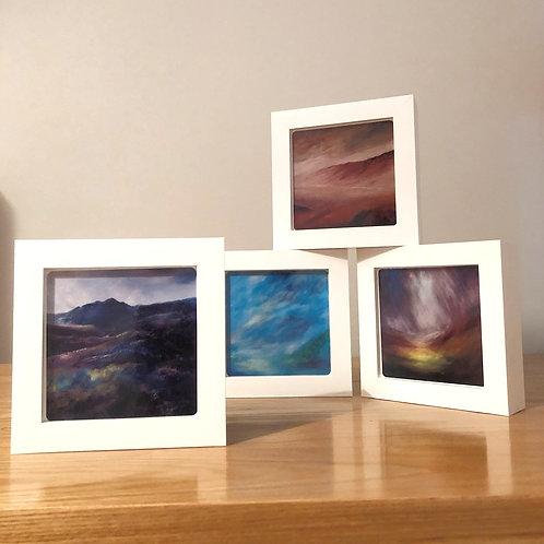 Set 1 -Box Framed Ceramic Tiles