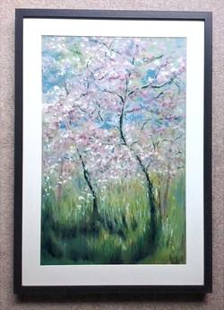 Cherry Blossom 3 framed-min