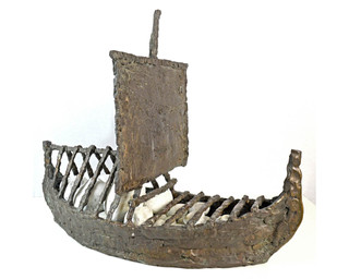 Viking Ship with Cargo under Sail