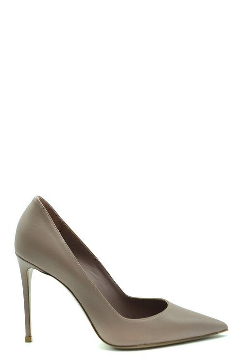LE SILLA Beige Leather Stiletto