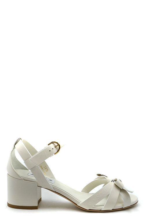 Tod's White Leather Pump