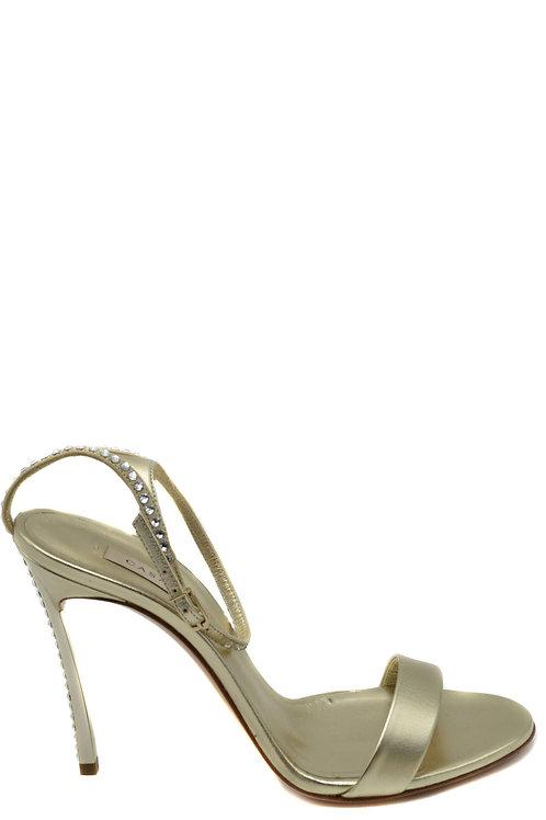 CASADEI Gold Leather Stiletto