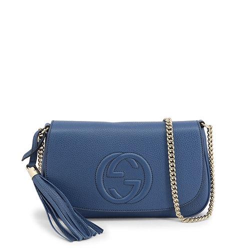 Gucci Crossbody Blue Leather