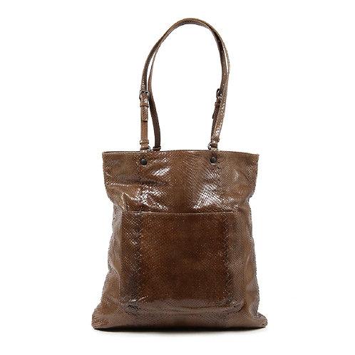 Bottega Veneta Brown Python Leather