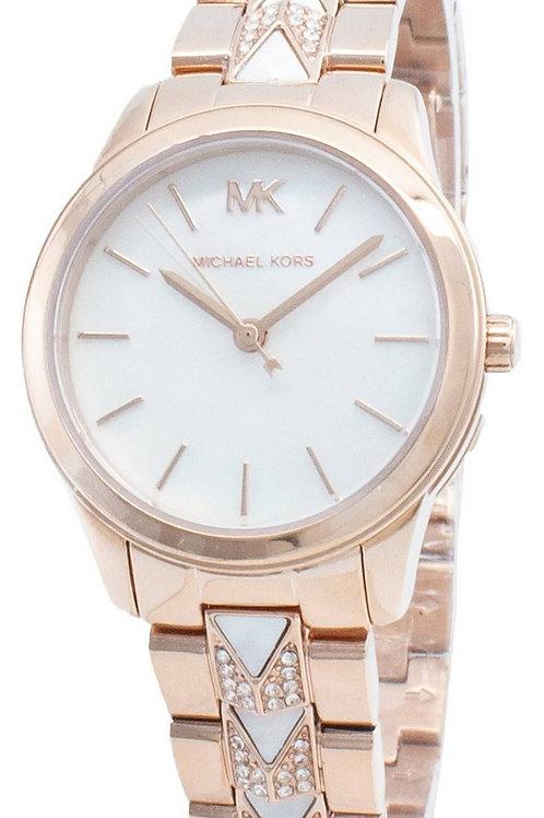 Michael Kors Runway Diamond Accents Quartz Women's Watch