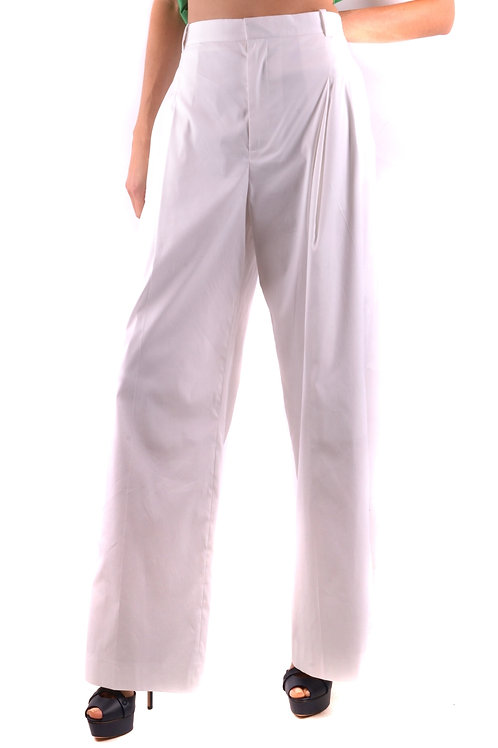 Trousers Givenchy White Wide-Leg