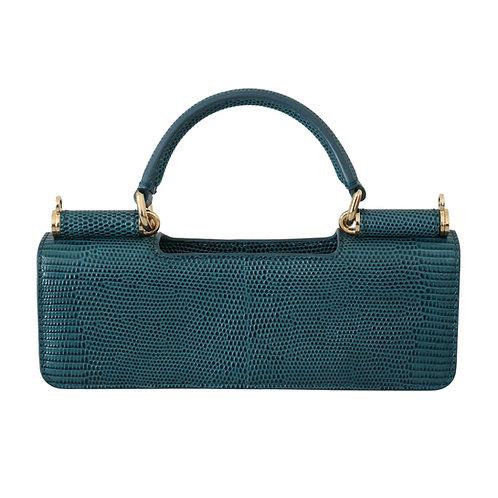 Dolce & Gabbana Women's Blue Leather Micro Bag