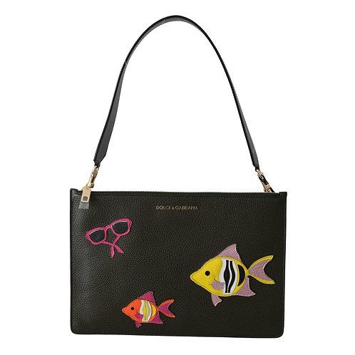 Dolce & Gabbana Women's Fish Patch Shoulder Bag