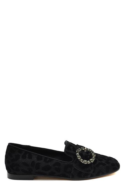 Dolce & Gabbana Black Tissue Flat