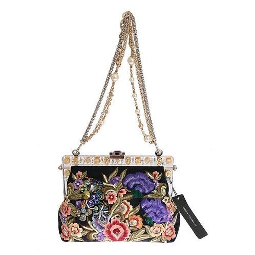 Dolce & Gabbana Women's Vanda Floral  Clutch Bag