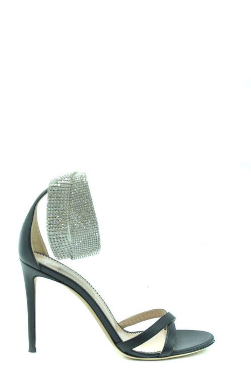 Giuseppe Zanotti Silver Leather Stiletto