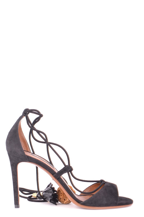 Dolce & Gabbana Black Leather Stiletto