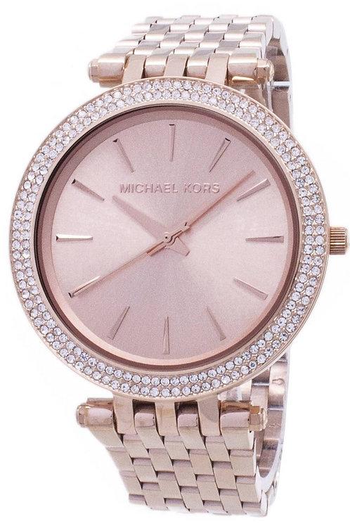 Michael Kors Darci Crystal Embellished Bezel Women's Watch
