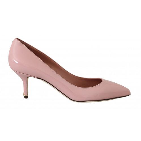 Dolce & Gabbana Women's Light Pink Leather Pump