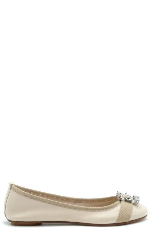 Anna Baiguera Beige Leather Shoes
