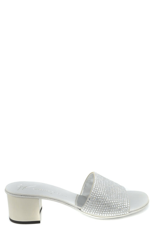 Giuseppe Zanotti Silver Leather Sandal