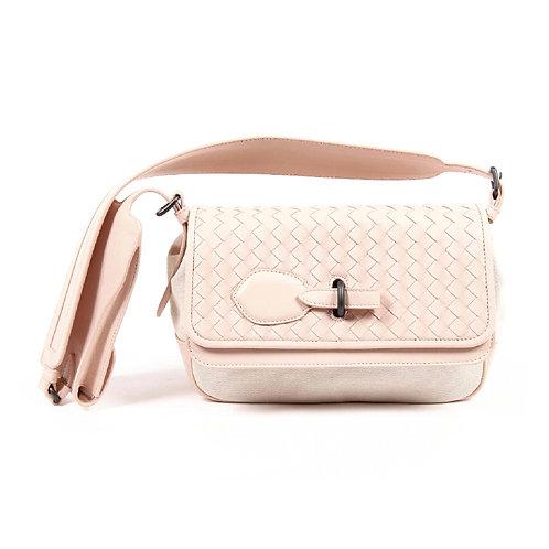 Bottega Veneta Womens Pink Intrecciato Handbag