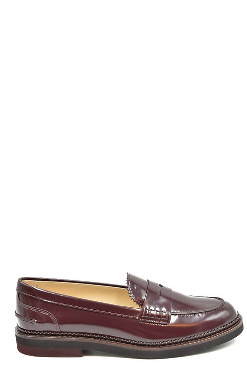 Tod's Burgundy Leather Casual