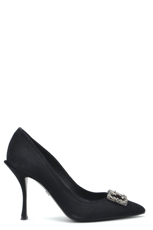 Dolce & Gabbana Black Chamois Stiletto