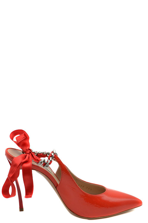 CASADEI Red Leather Pump