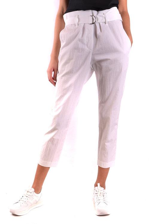 Trousers Brunello Cucinelli White Cotton
