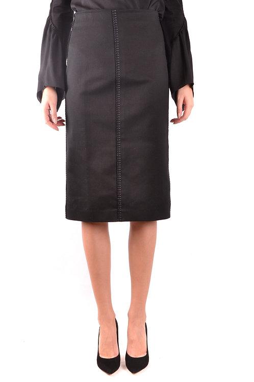 Fendi Cotton Black Skirt