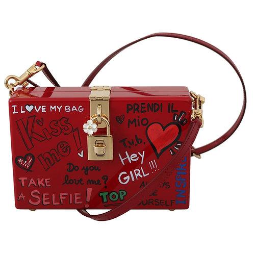 Dolce & Gabbana Women's Hand Painted  Shoulder Bag