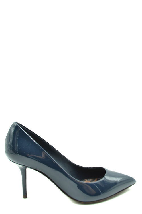 Dolce & Gabbana  Blue Leather Stiletto