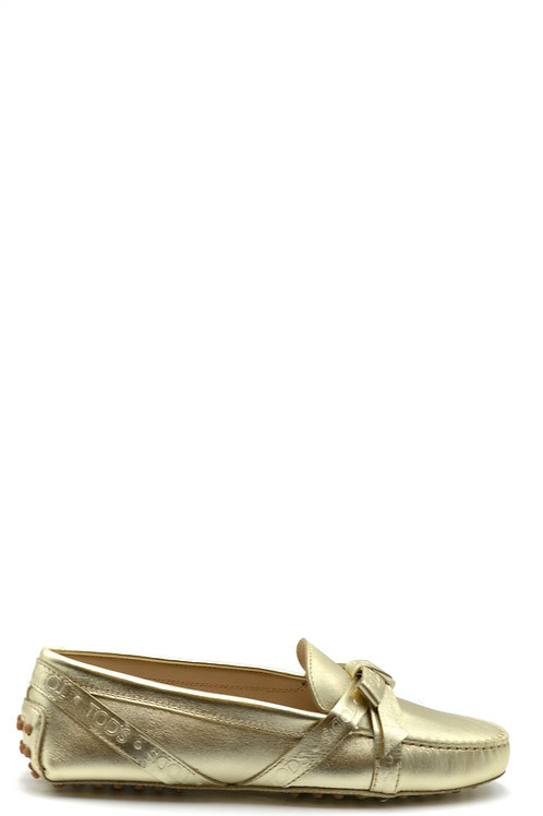 Tod's Gold Leather Loafer