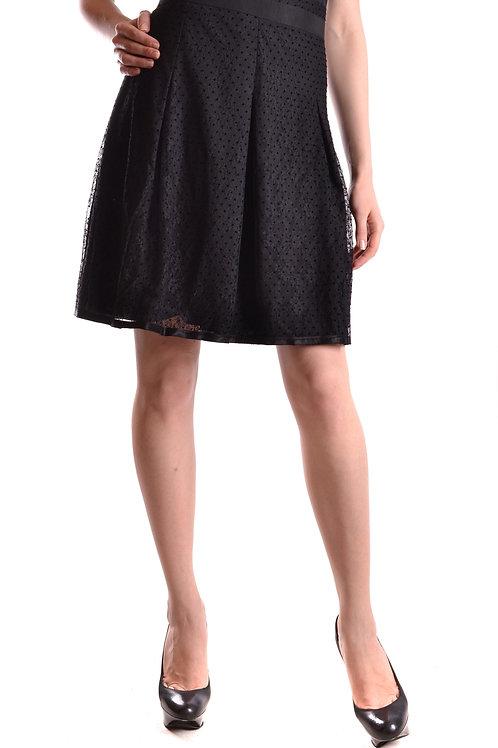 D&G Dolce & Gabbana Black Midi Skirt