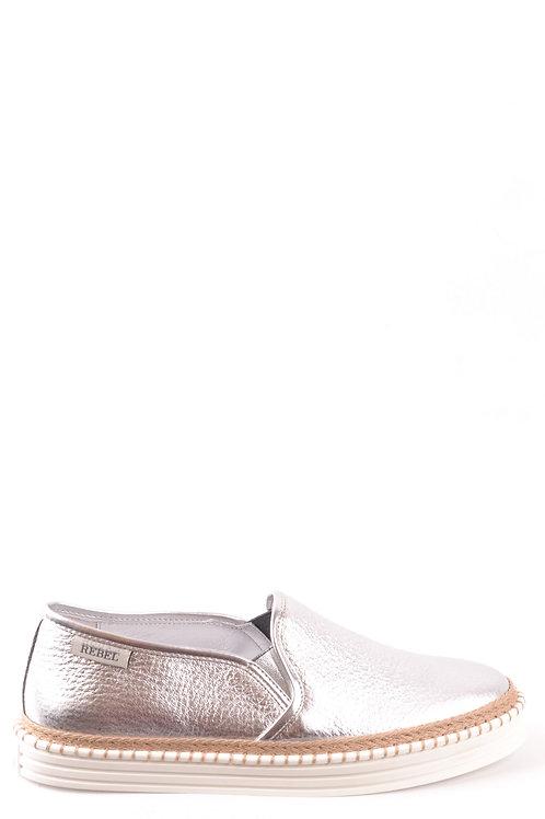 Hogan Silver Leather Sneaker
