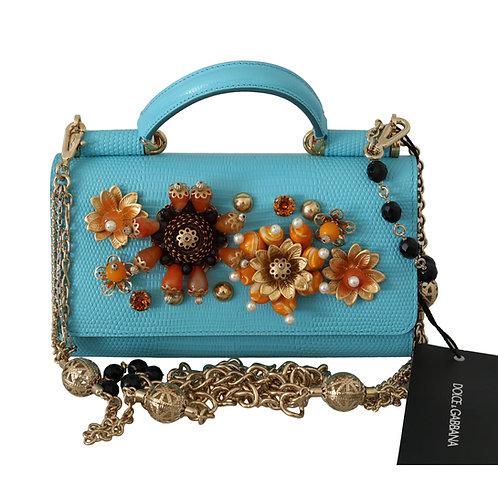 Dolce & Gabbana Women's Blue Sicily Crossbody Bag