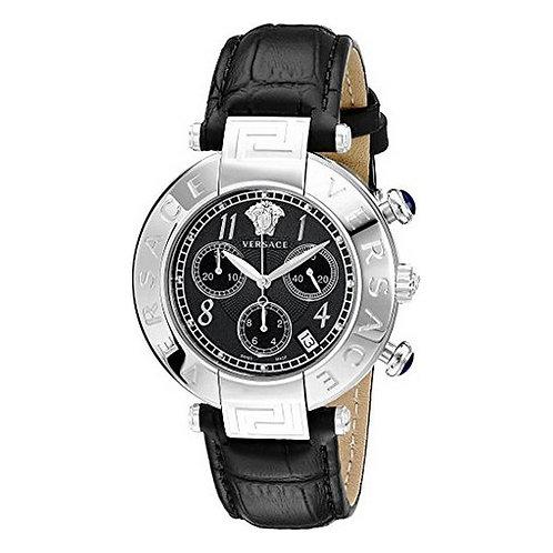 Versace Ladies'Watch Black Leather (Ø 38 mm)