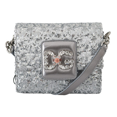 Dolce & Gabbana Women's Sequin Crystal Crossbody Bag