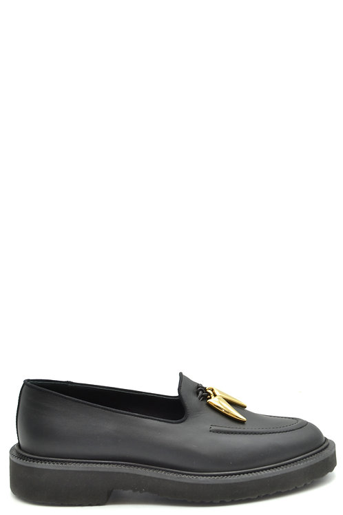 Giuseppe Zanotti Black Leather Casual