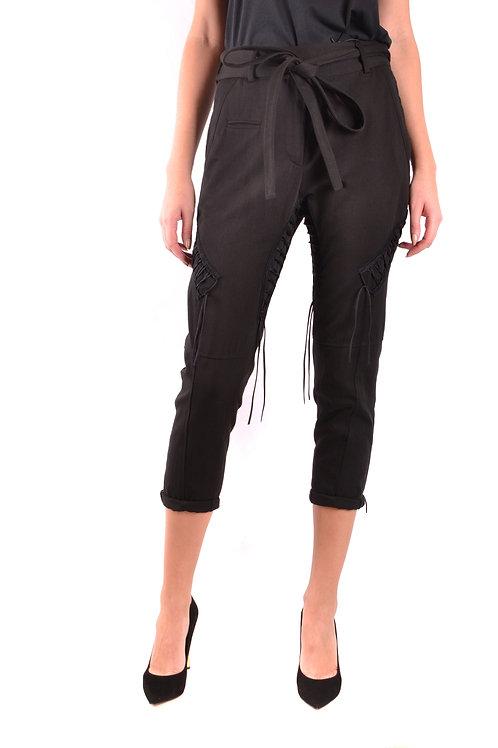 Trousers Saint Laurent Black Cotton