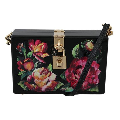 Dolce & Gabbana Women's  Roses Woden Shoulder Bag