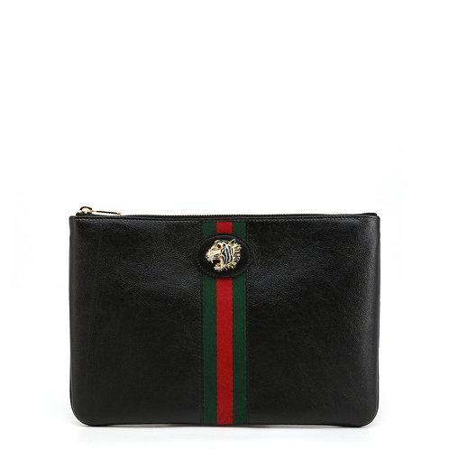 Gucci Black Leather Clutch
