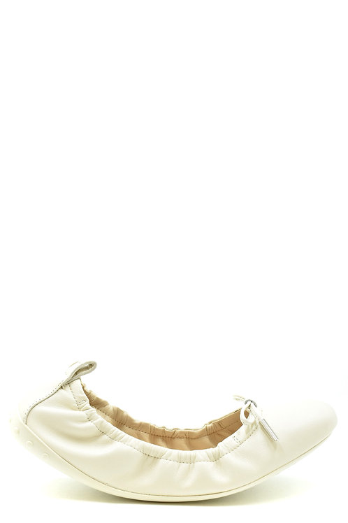Tod's 2020 White Ballerina