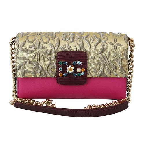 Dolce & Gabbana Women's Pink Gold Crossbody Bag