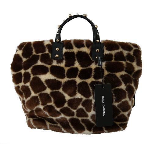 Dolce & Gabbana Women's Brown Giraffe Tote Bag
