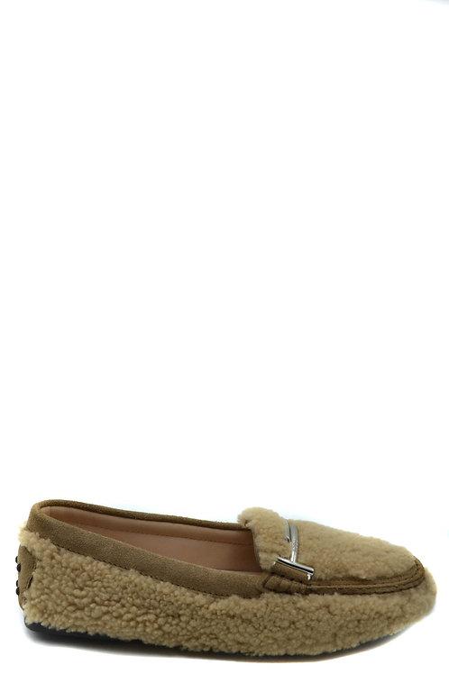 Tod's Beige Wool Loafer