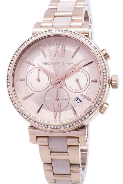 Michael Kors Sofie Chronograph Quartz Diamond Accent  Women's Watch